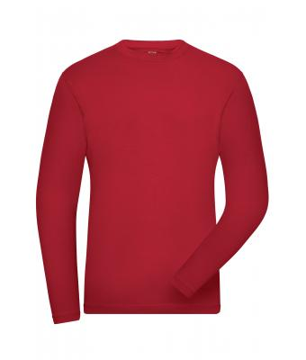 Herren Men's BIO Stretch-Longsleeve Work - SOLID - Red 8705
