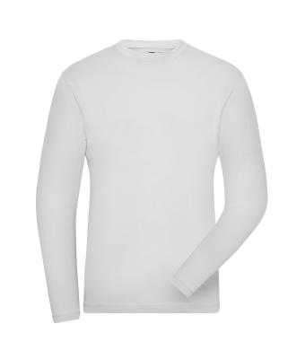 Herren Men's BIO Stretch-Longsleeve Work - SOLID - White 8705