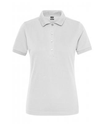 Damen Ladies' BIO Stretch-Polo Work - SOLID - White 8704