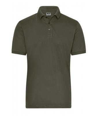 Herren Men's BIO Stretch-Polo Work - SOLID - Olive 8703