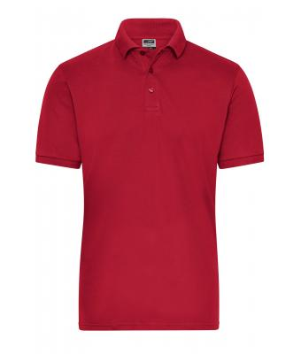 Herren Men's BIO Stretch-Polo Work - SOLID - Red 8703