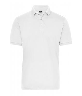 Herren Men's BIO Stretch-Polo Work - SOLID - White 8703