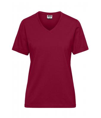 Damen Ladies' BIO Workwear T-Shirt - SOLID - Wine 8731