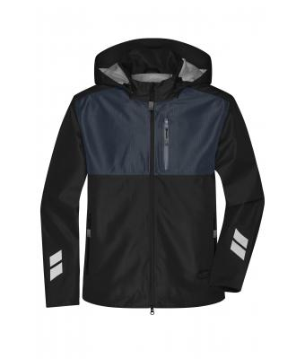 Unisex Hardshell Workwear Jacket Black/carbon 10433