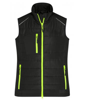 Ladies Ladies' Hybrid Vest Black/neon-yellow 10441