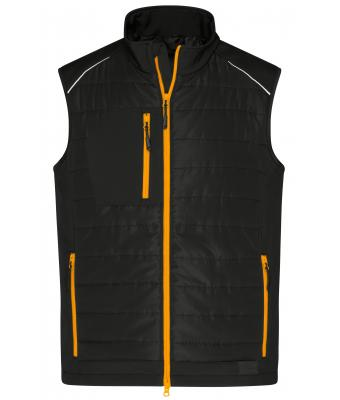 Men Men's Hybrid Vest Black/neon-orange 10442