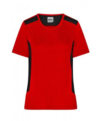 Ladies Ladies' Workwear T-Shirt - STRONG - Red/black 10439