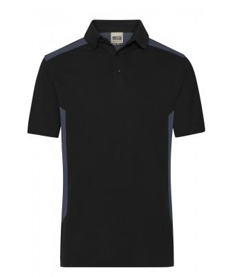 Men Men's Workwear Polo - STRONG - Black/carbon 10446