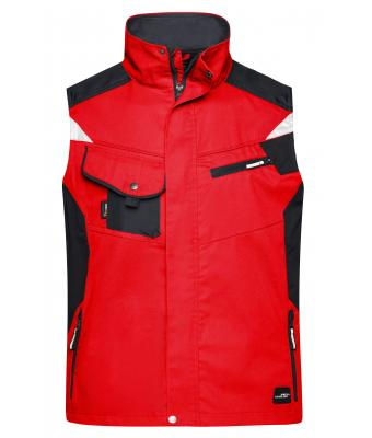 Unisex Workwear Vest - STRONG - Red/black 8067