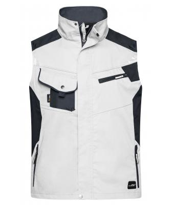 Unisex Workwear Vest - STRONG - White/carbon 8067