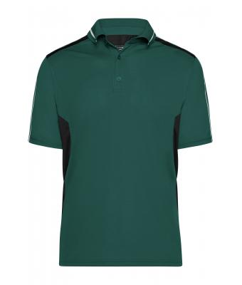 Unisex Craftsmen Poloshirt - STRONG - Dark-green/black 8167