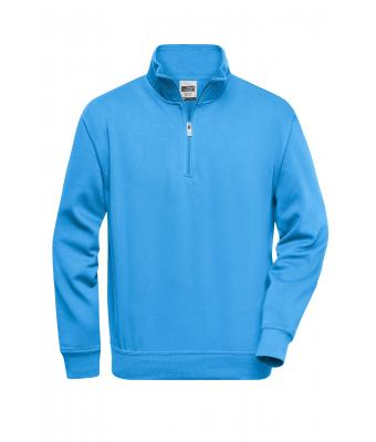 Unisex Workwear Half Zip Sweat Aqua 8172
