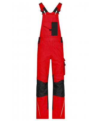 Unisex Workwear Pants with Bib - STRONG - Red/black 8288