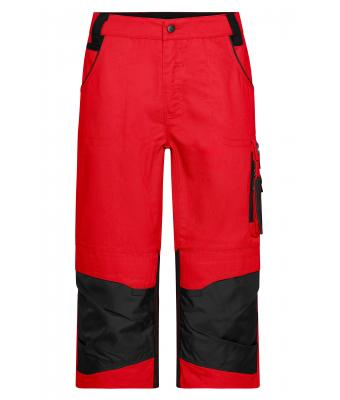 Unisex Workwear 3/4 Pants - STRONG - Red/black 8289