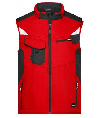 Unisex Workwear Softshell Vest - STRONG - Red/black 8309