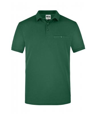 Herren Men´s Workwear Polo Pocket Dark-green 8402