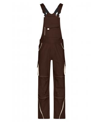 Unisex Workwear Pants with Bib - COLOR - Brown/stone 8525
