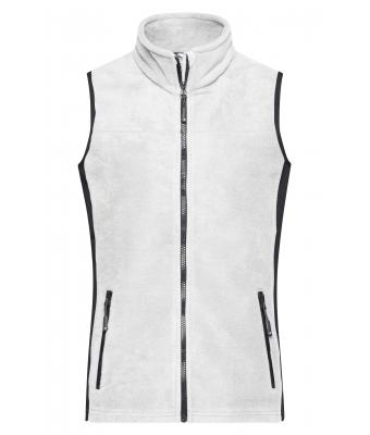 Damen Ladies' Workwear Fleece Vest - STRONG - White/carbon 8502