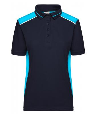 Damen Ladies' Workwear Polo - COLOR - Navy/turquoise 8532