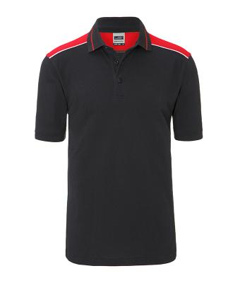 Herren Men's Workwear Polo - COLOR - Carbon/red 8533