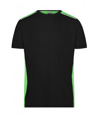 Herren Men's Workwear T-Shirt - COLOR - Black/lime-green 8535