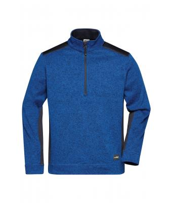 Unisex Men's Knitted Workwear Fleece Half-Zip - STRONG - Royal-melange/navy 8538