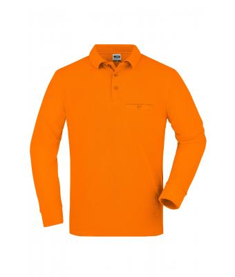 Herren Men's Workwear Polo Pocket Longsleeve Orange 8540