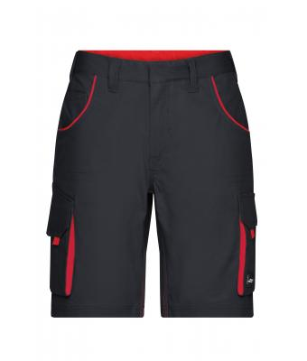 Unisex Workwear Bermudas - COLOR - Carbon/red 8545