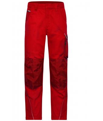 Unisex Workwear Pants - SOLID - Red 8718