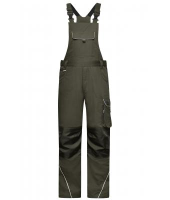 Unisex Workwear Pants with Bib - SOLID - Olive 8719