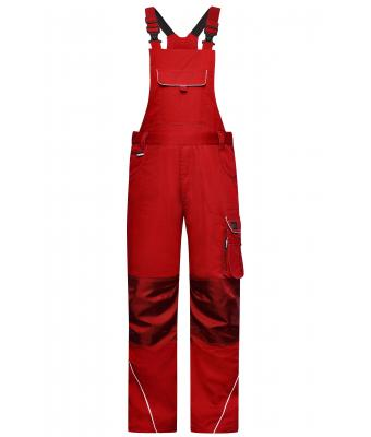 Unisex Workwear Pants with Bib - SOLID - Red 8719