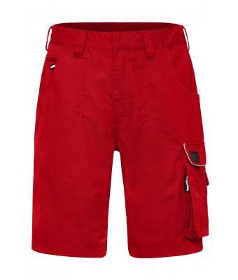Unisex Workwear Bermudas - SOLID - Red 8720