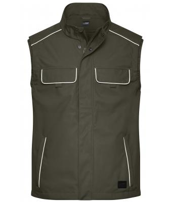 Unisex Workwear Softshell Light Vest - SOLID - Olive 8721