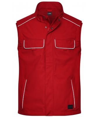 Unisex Workwear Softshell Light Vest - SOLID - Red 8721