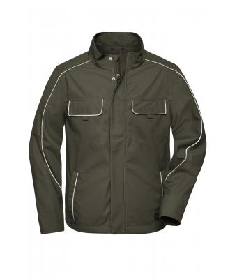 Unisex Workwear Softshell Light Jacket - SOLID - Olive 8722