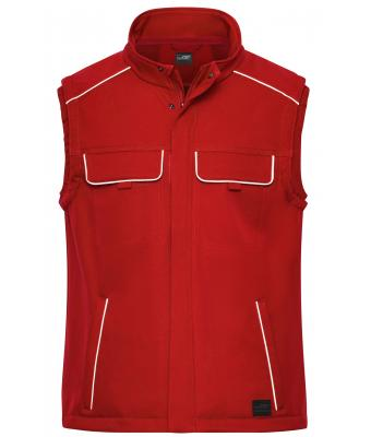 Unisex Workwear Softshell Vest - SOLID - Red 8723