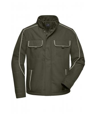 Unisex Workwear Softshell Jacket - SOLID - Olive 8724