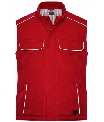 Unisex Workwear Softshell Padded Vest - SOLID - Red 8725