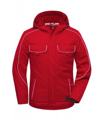 Unisex Workwear Softshell Padded Jacket - SOLID - Red 8726