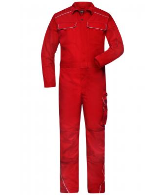 Unisex Work Overall - SOLID - Red 8734