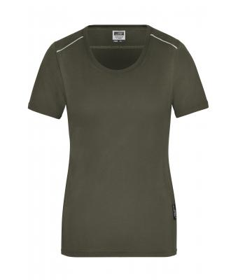 Damen Ladies' Workwear T-Shirt - SOLID - Olive 8711