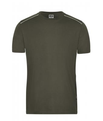 Herren Men's Workwear T-Shirt - SOLID - Olive 8712