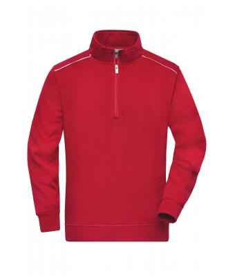 Unisex Workwear Half-Zip Sweat - SOLID - Red 8733