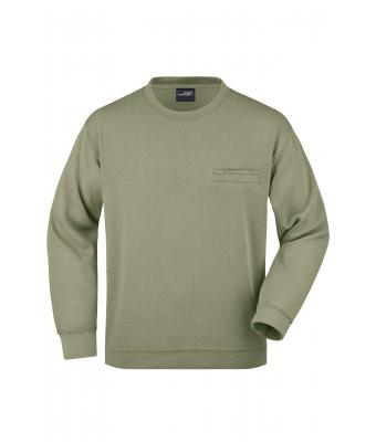 Men Men's Round Sweat Pocket Khaki 7563