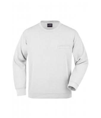 Herren Men's Round Sweat Pocket White 7563