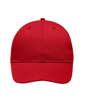 Unisex 6 Panel Workwear Cap - STRONG - Red 8327