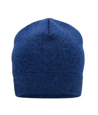Unisex Knitted Fleece Workwear Beanie - STRONG - Royal-melange/navy 8519