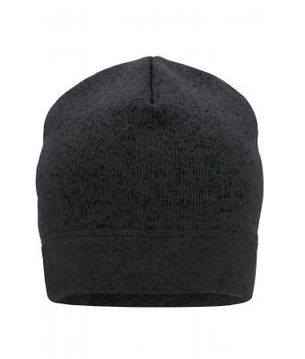 Unisex Knitted Fleece Workwear Beanie - STRONG - Carbon-melange/black 8519